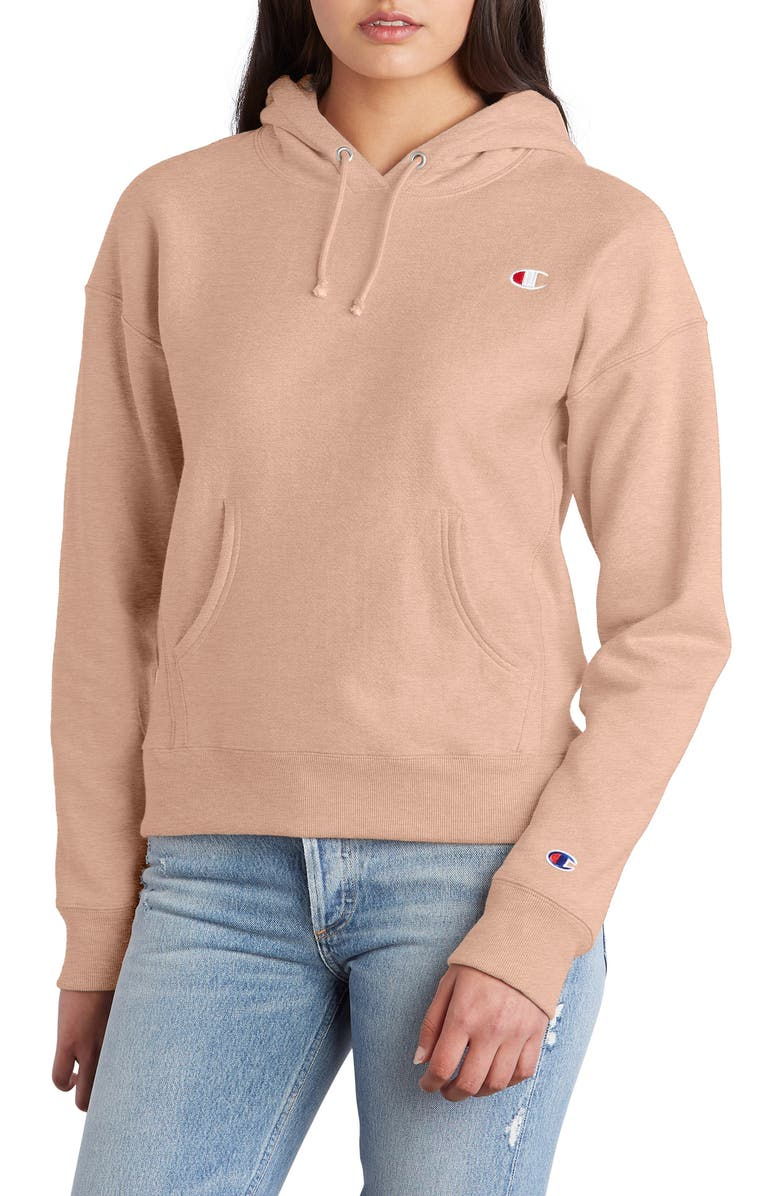 CHAMPION Reverse Weave Hoodie, Main, color, SPICED ALMOND PINK