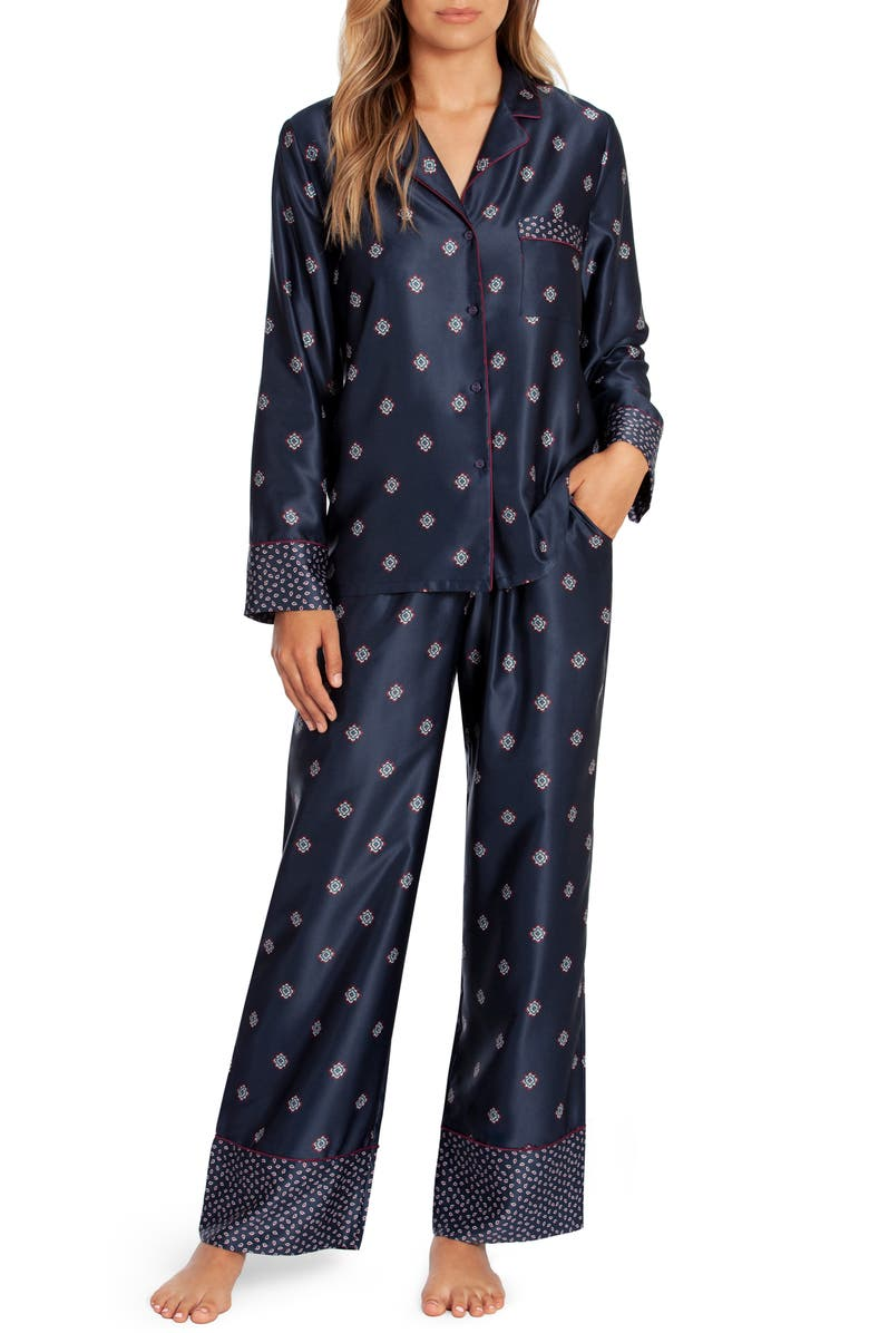 IN BLOOM BY JONQUIL Whistler Pajamas, Main, color, FOULARD NAVY