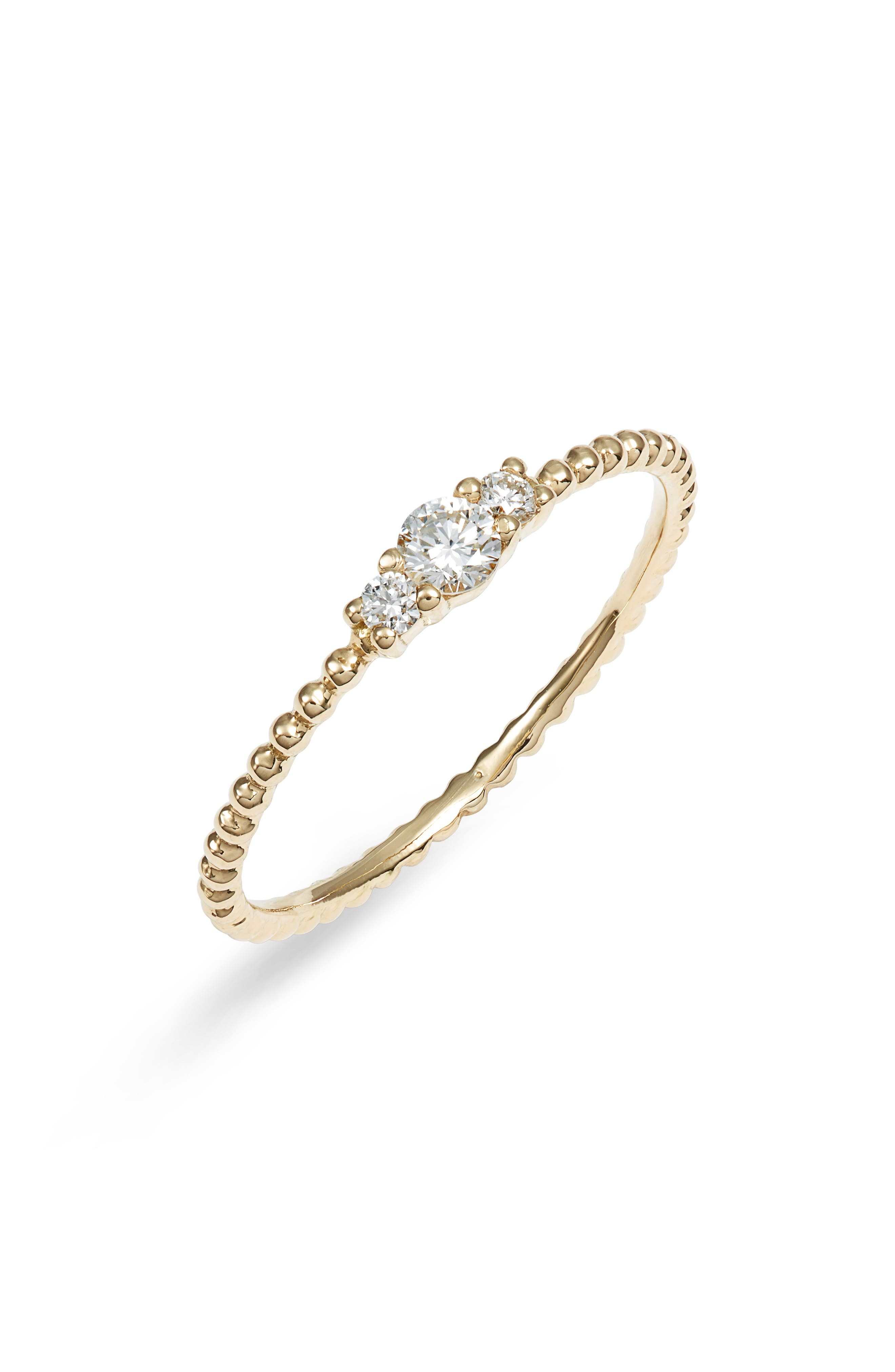 Diamond & Gold Bead Ring (Nordstrom Exclusive)