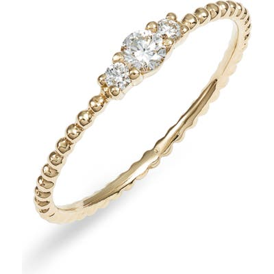 Bony Levy Diamond & Gold Bead Ring (Nordstrom Exclusive)