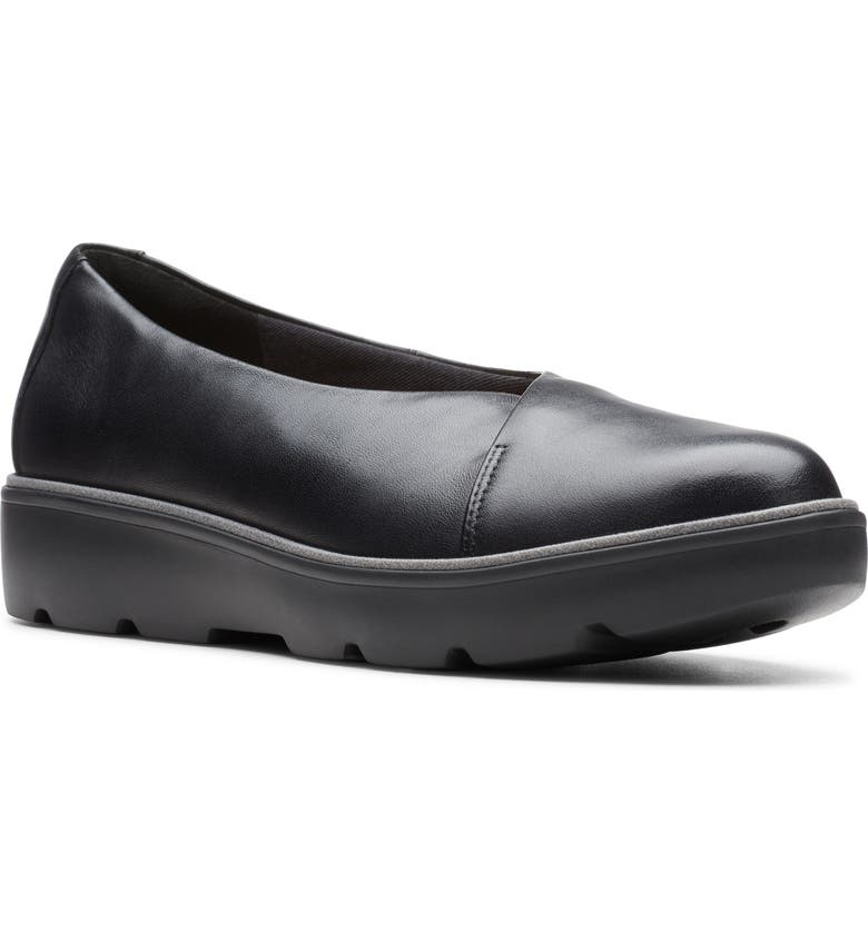 CLARKS<SUP>®</SUP> Un Balsa Go Flat, Main, color, BLACK LEATHER