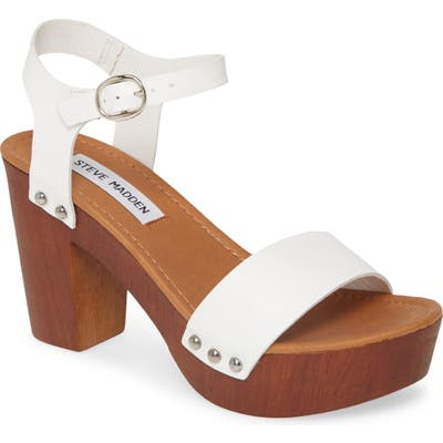 Steve Madden Luna Platform Sandal- White