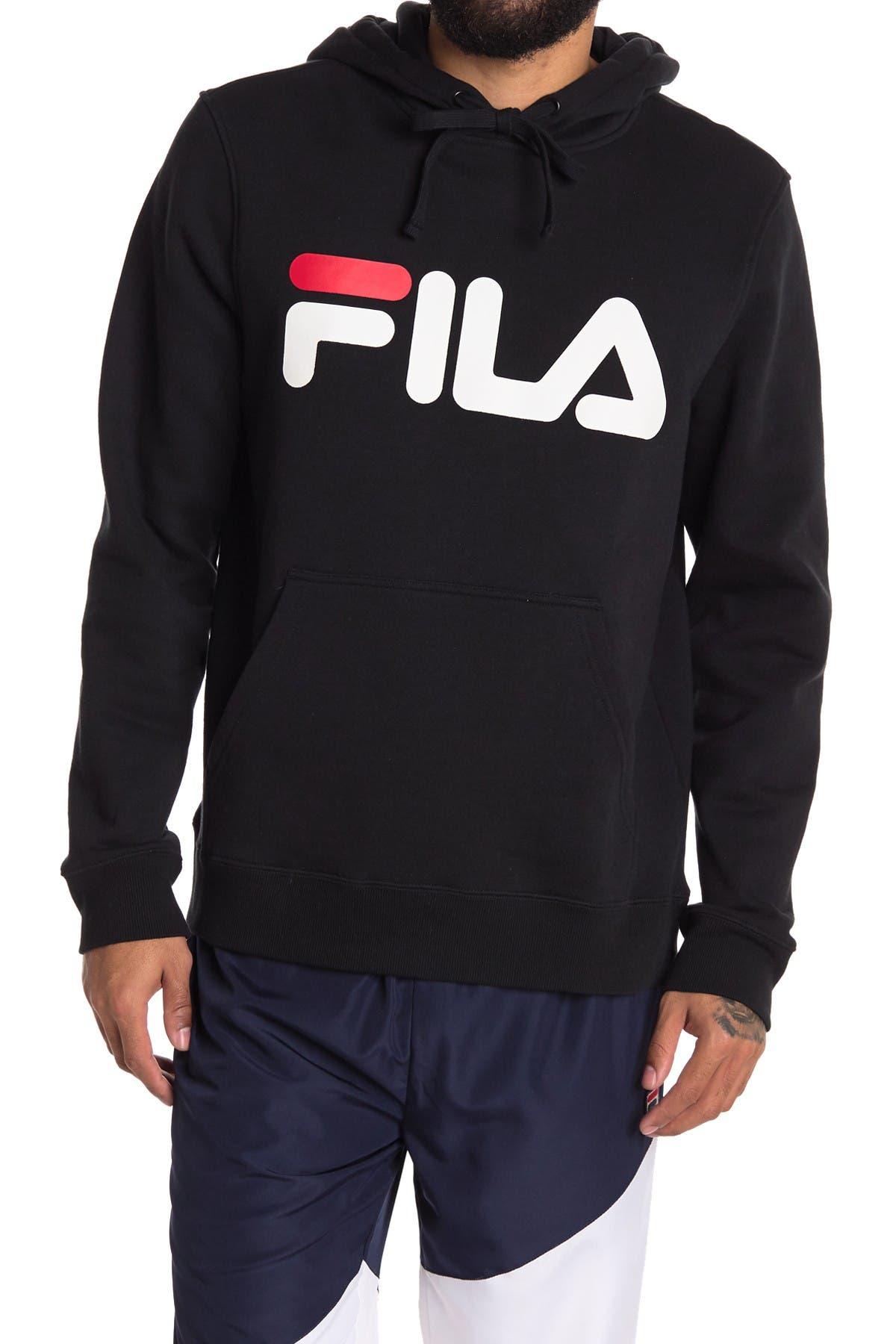 Image of FILA USA Logo Graphic Drawstring Hoodie