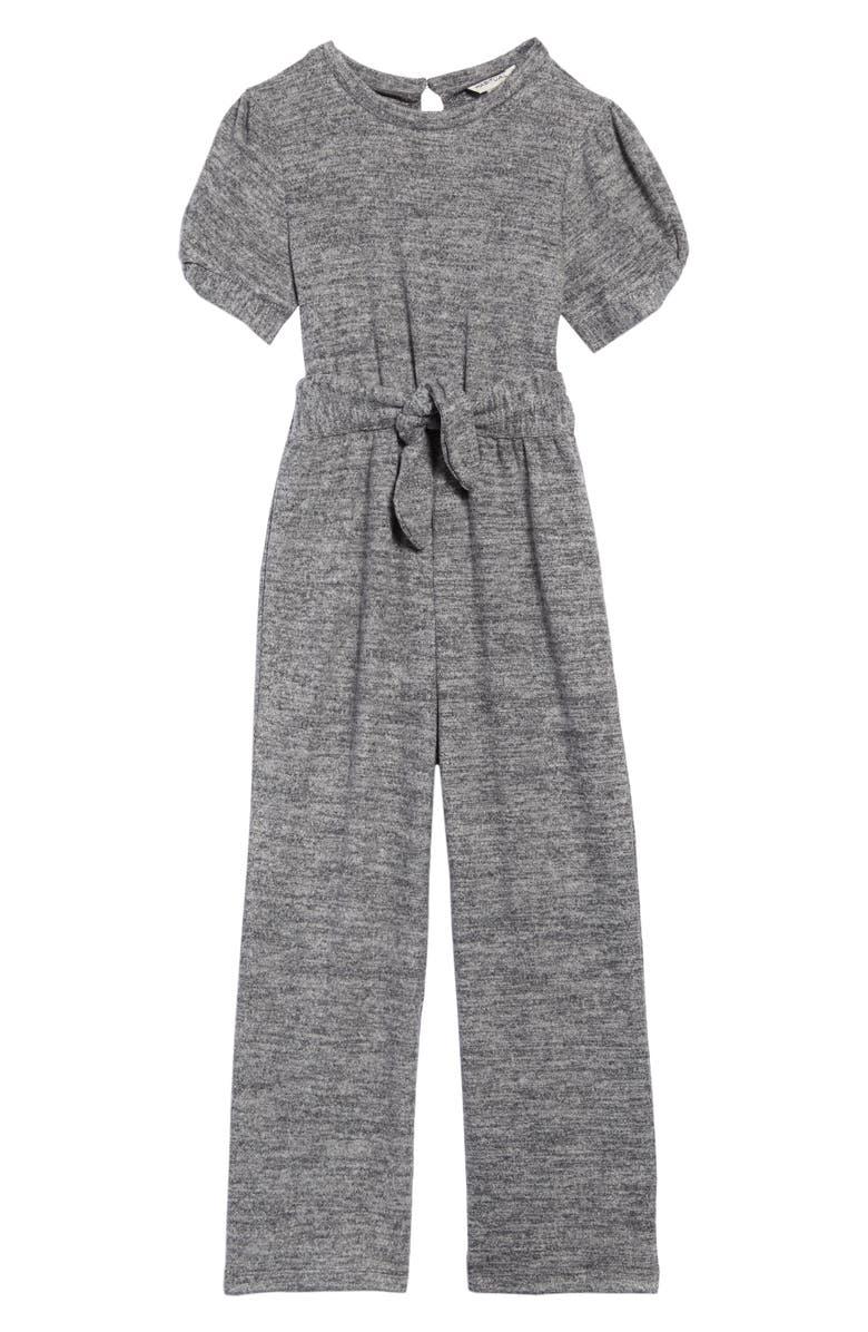 HABITUAL Makenna Hatchi Tie Front Knit Jumpsuit, Main, color, 024
