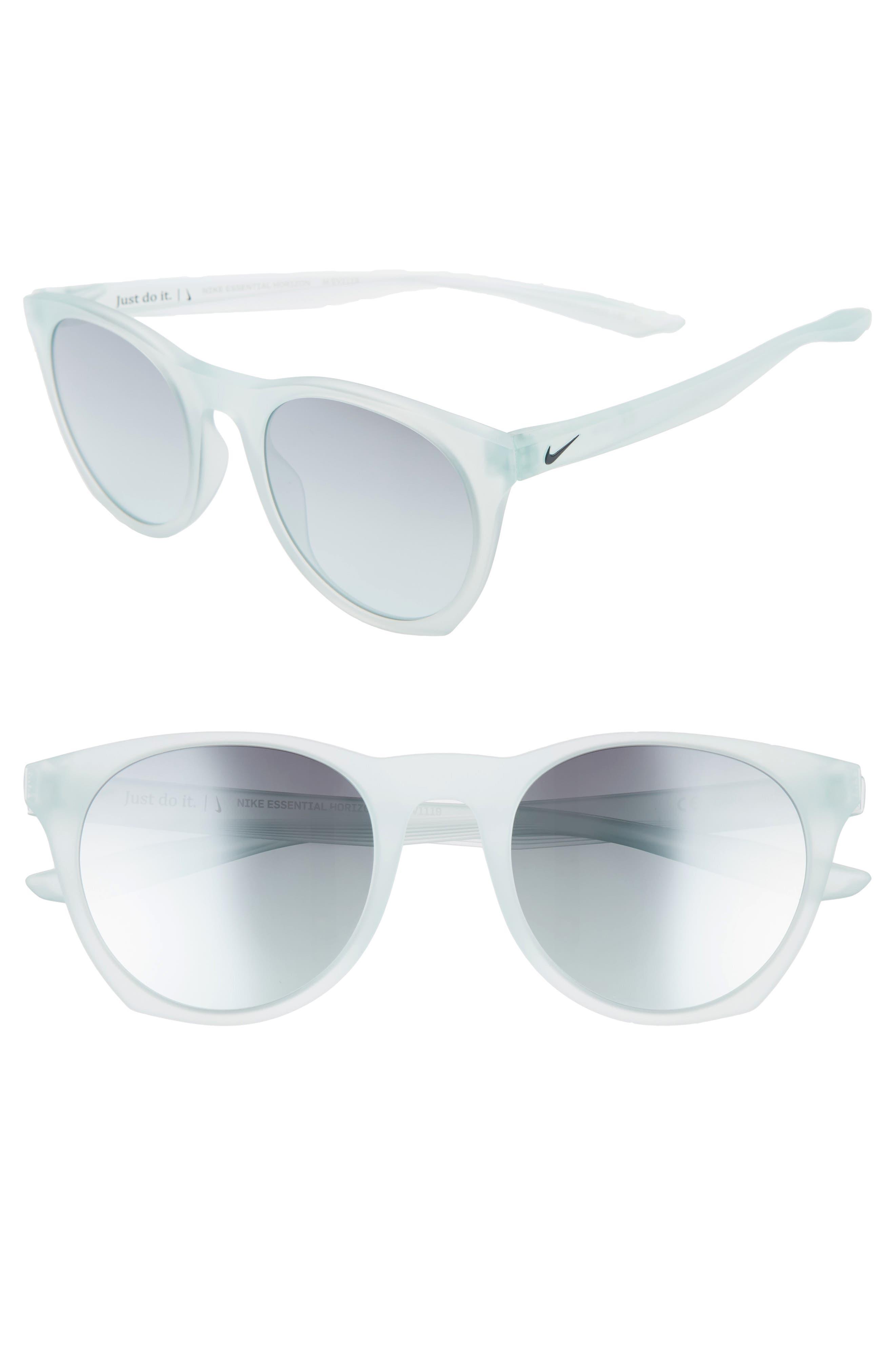 Nike Essential Horizon 51Mm Mirror Sunglasses - Matte Igloo/ Teal