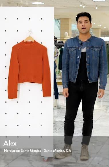 Shrunken Mock Neck Cashmere Sweater, sales video thumbnail