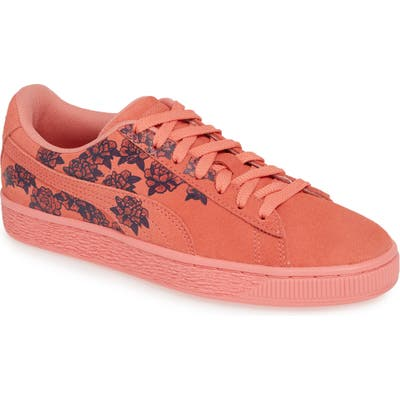 Puma Suede Tol Graphic Sneaker- Pink