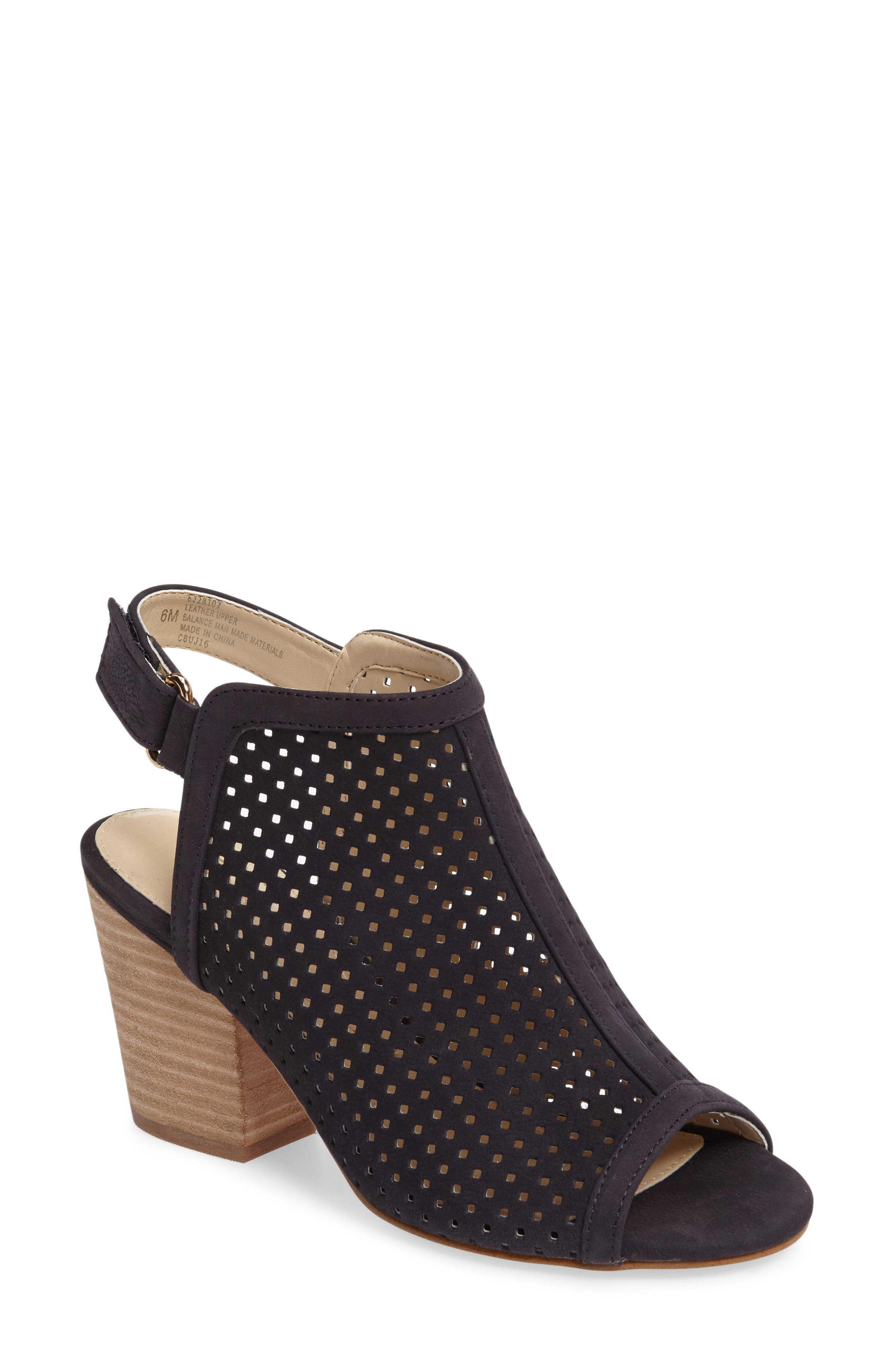 ,                             'Lora' Perforated Open-Toe Bootie Sandal,                             Main thumbnail 18, color,                             410