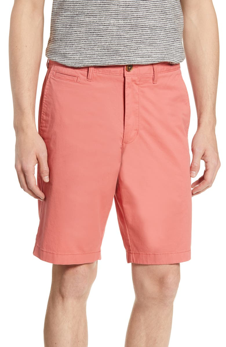 5d82e4dd67 Ballard Slim Fit Stretch Chino 11-Inch Shorts, Main, color, CORAL FADED