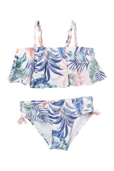 Image of RAISINS Lanai Tropical Print Bikini 2-Piece Set
