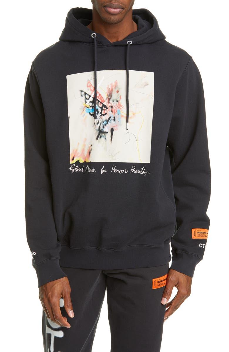 HERON PRESTON Robert Nava Graphic Hoodie, Main, color, BLACK MULTI