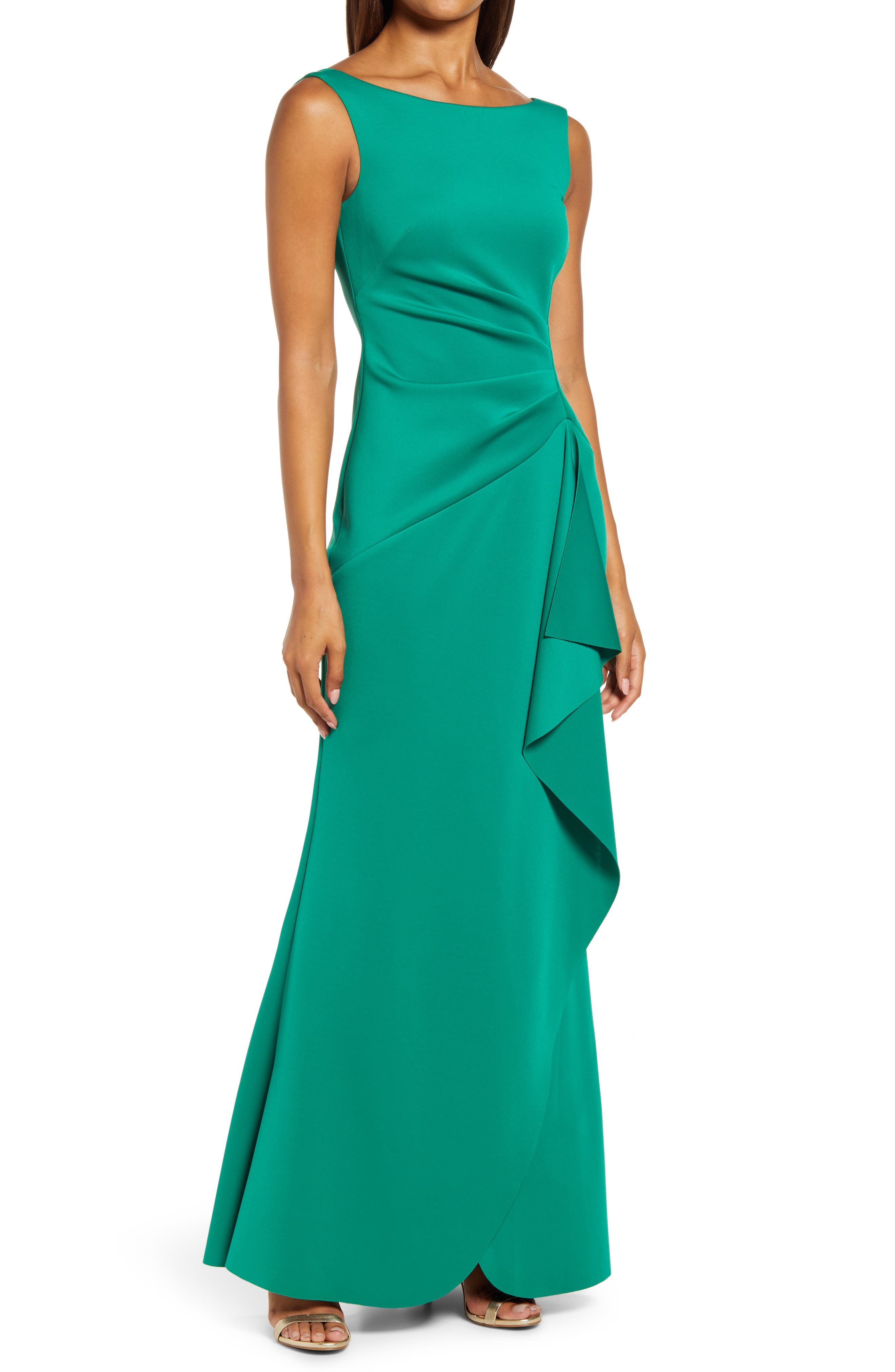 Sleeveless Side Tuck Gown