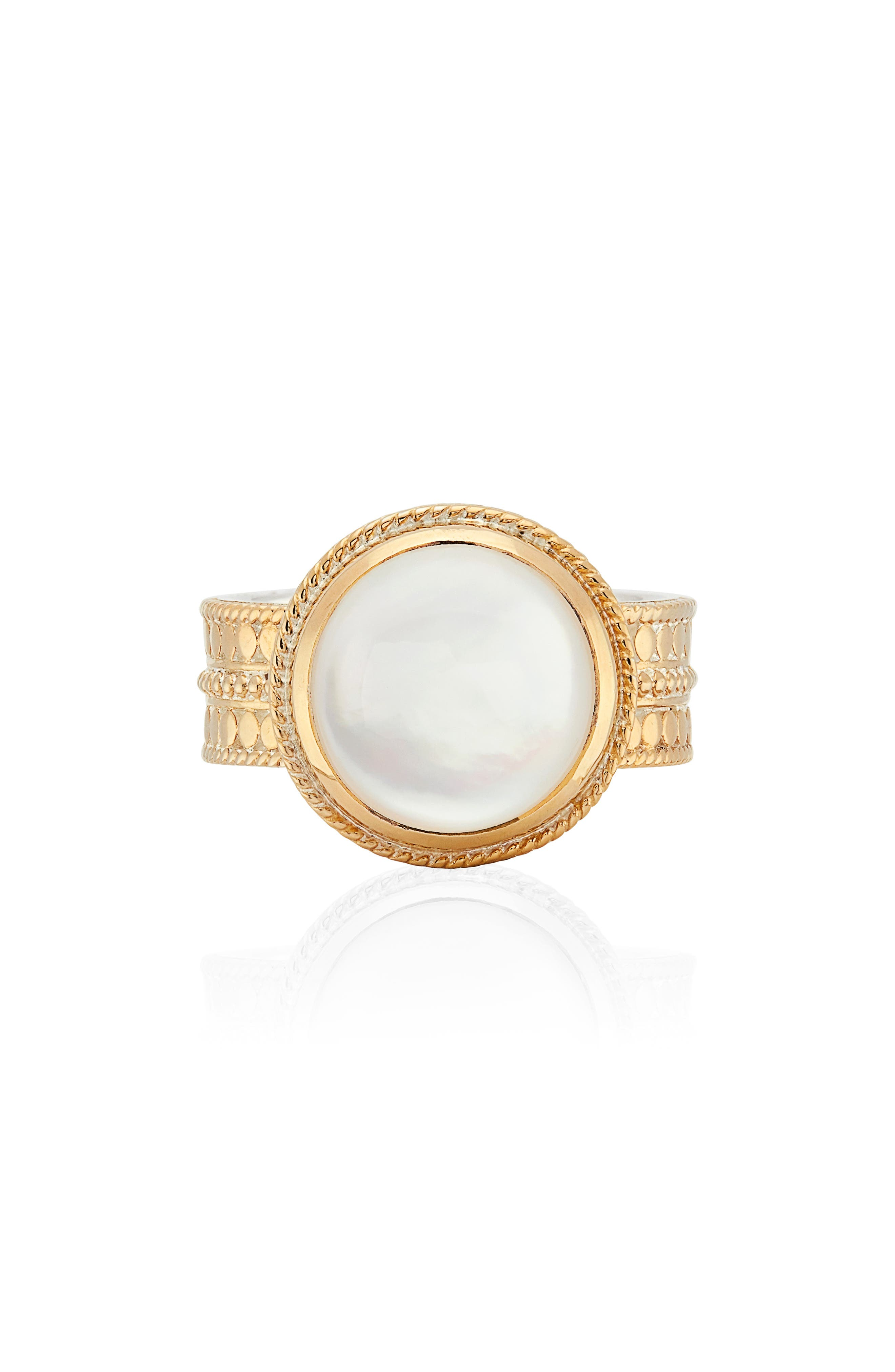 Mother-Of-Pearl Cocktail Ring