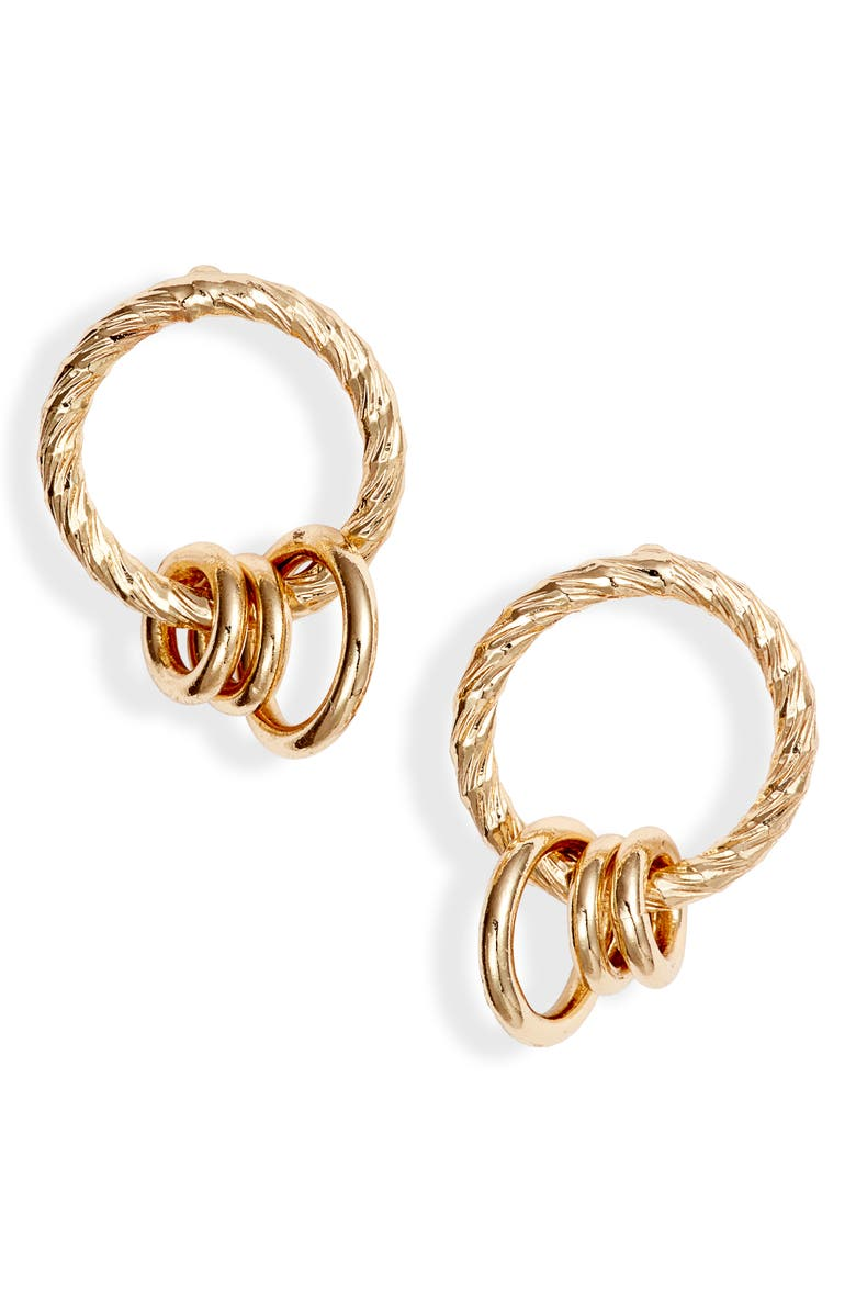 HALOGEN<SUP>®</SUP> Chain Links Earrings, Main, color, GOLD
