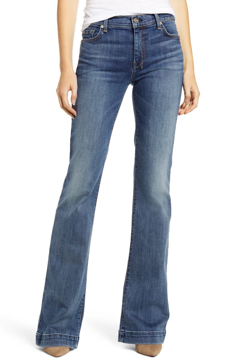 7 FOR ALL MANKIND<SUP>®</SUP> Dojo Flare Jeans, Main, color, AUTHENTIC LUCK