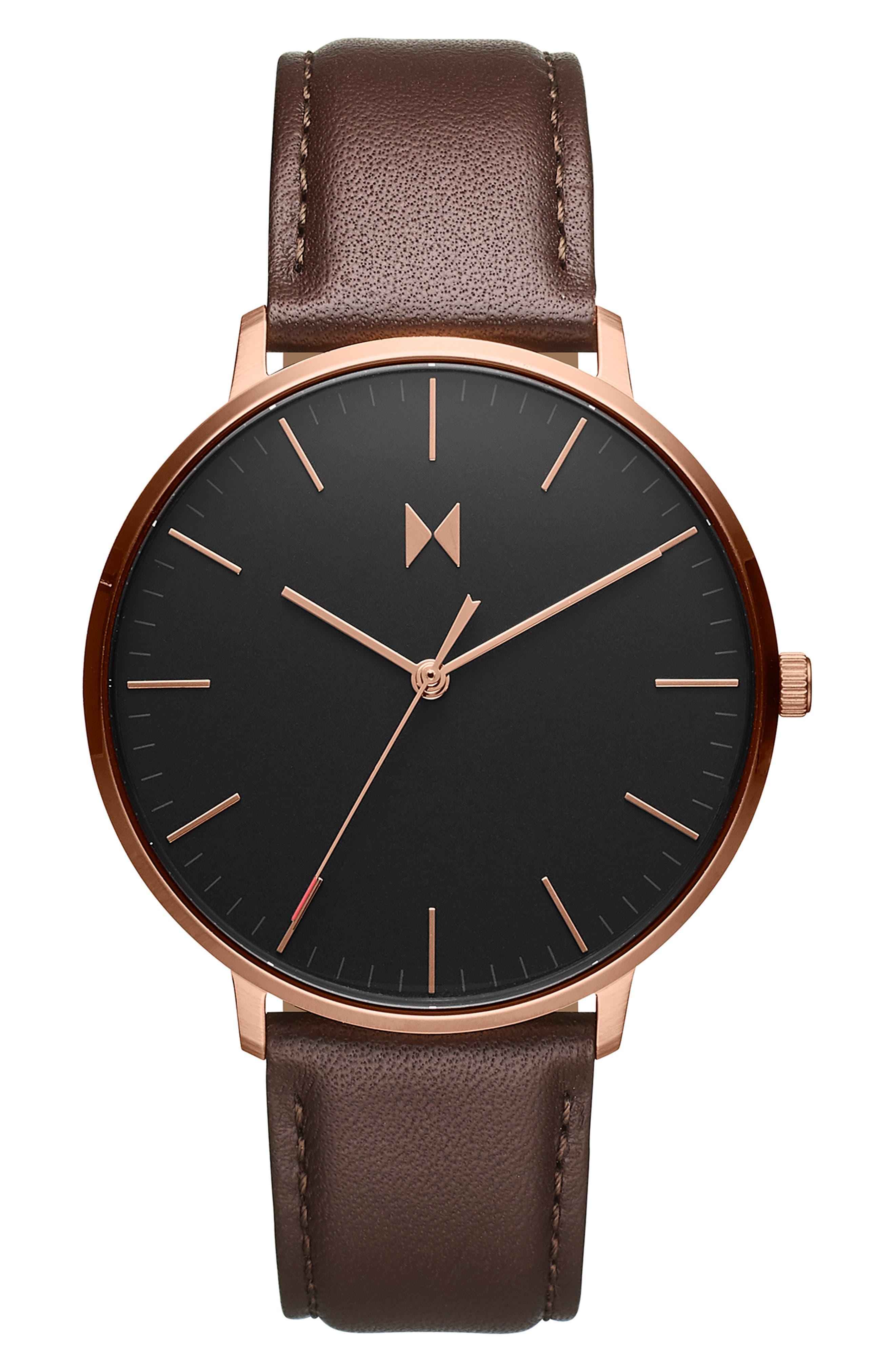 Legacy Slim Leather Strap Watch