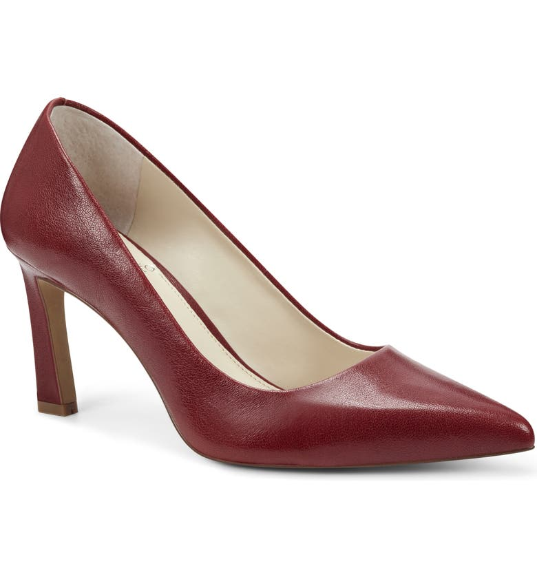VINCE CAMUTO Retsie Pointed Toe Pump, Main, color, RAVEN RED
