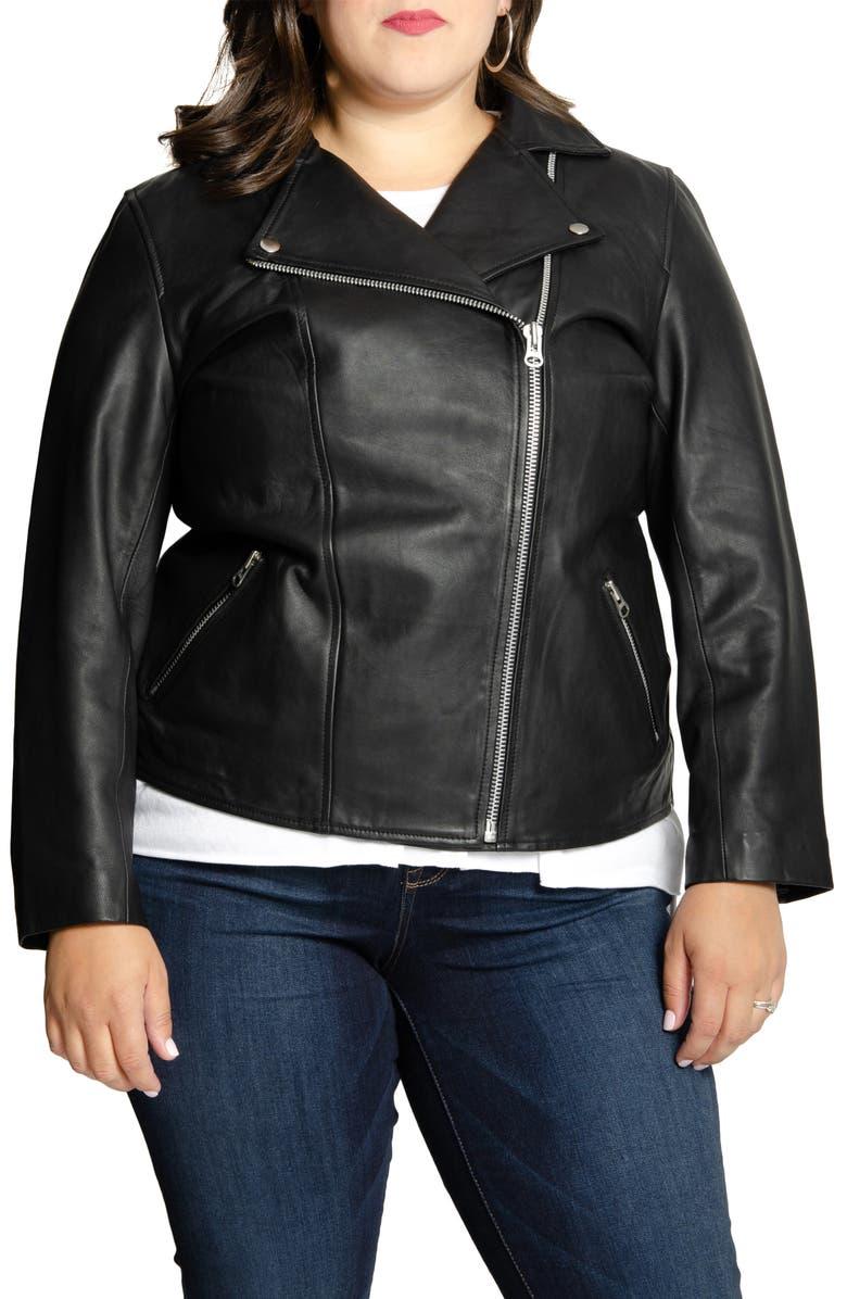 ALL 67 Long Lifetime Leather Moto Jacket, Main, color, BLACK