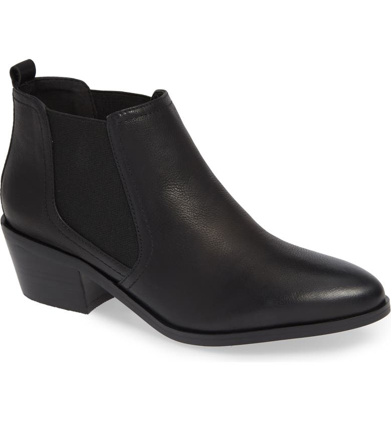 DAVID TATE Maxie Chelsea Boot, Main, color, BLACK LEATHER