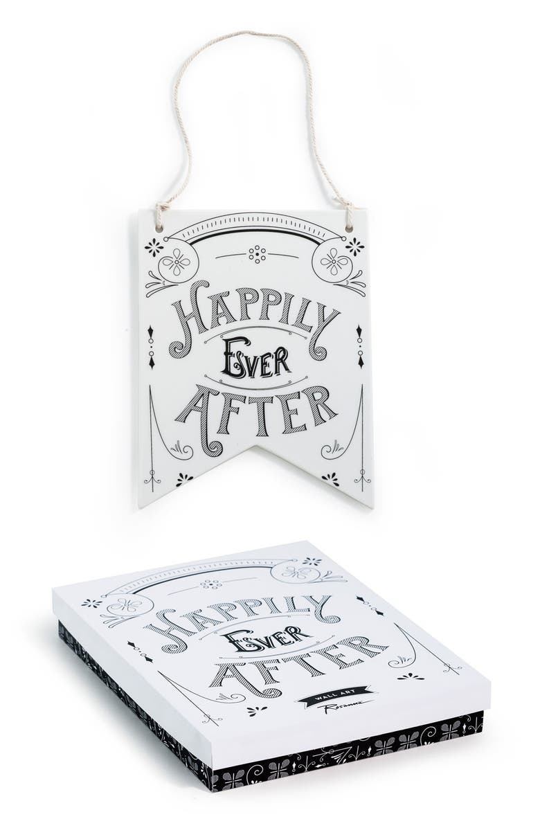 ROSANNA 'Happily Ever After' Porcelain Sign, Main, color, 100