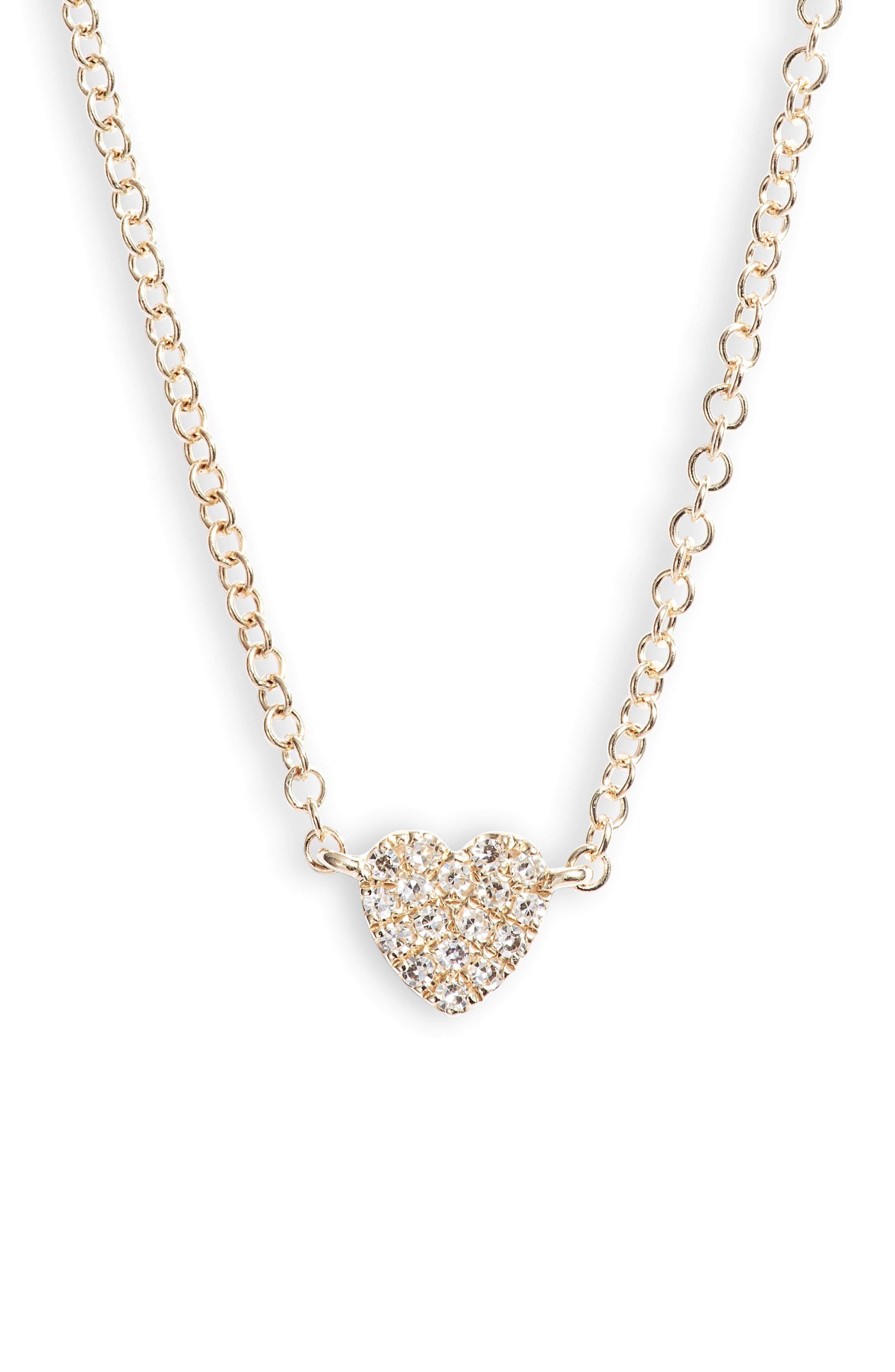 Diamond Pave Heart Necklace