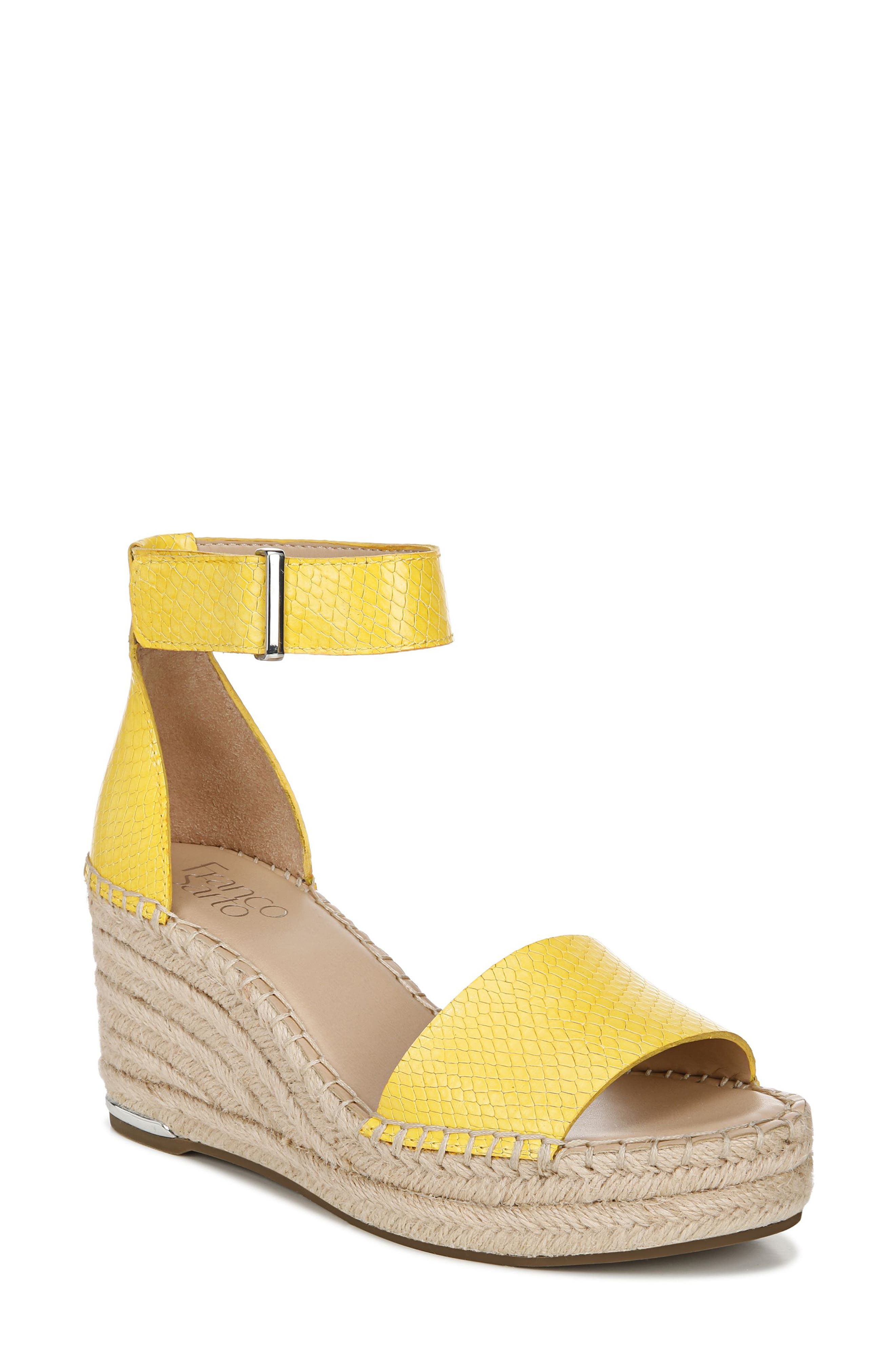 Whether you\\\'re heading for weekend brunch or an outdoor party, put your best foot forward in this espadrille-style wedge sandal. Style Name: Franco Sarto Clemens Espadrille Wedge Sandal (Women). Style Number: 6080323. Available in stores.