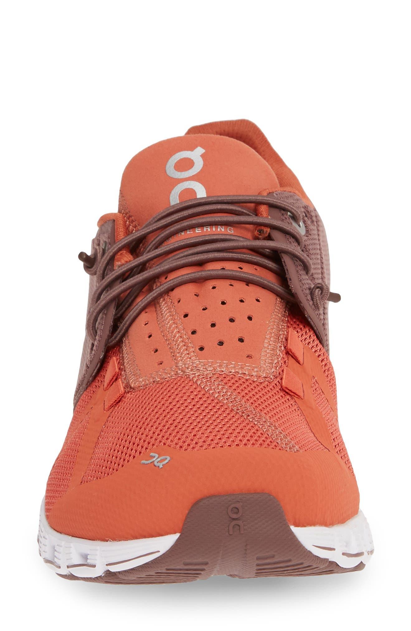 ,                             Cloud 50/50 Colorblock Running Shoe,                             Alternate thumbnail 4, color,                             GRAPE/ GINGER