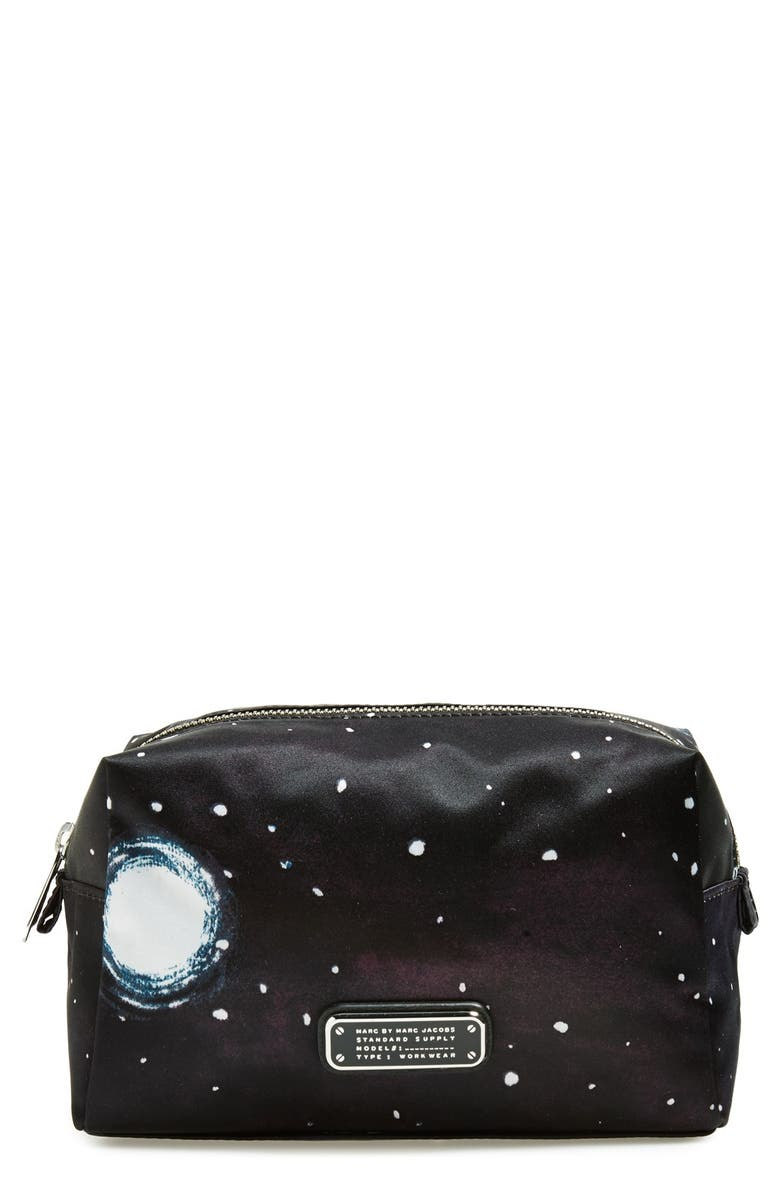 MARC BY MARC JACOBS 'Zero Stargazer' Large Cosmetics Case, Main, color, 002
