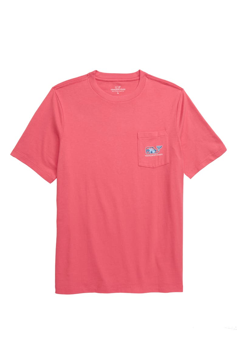 VINEYARD VINES Crab Fill Whale Pocket T-Shirt, Main, color, JETTY RED