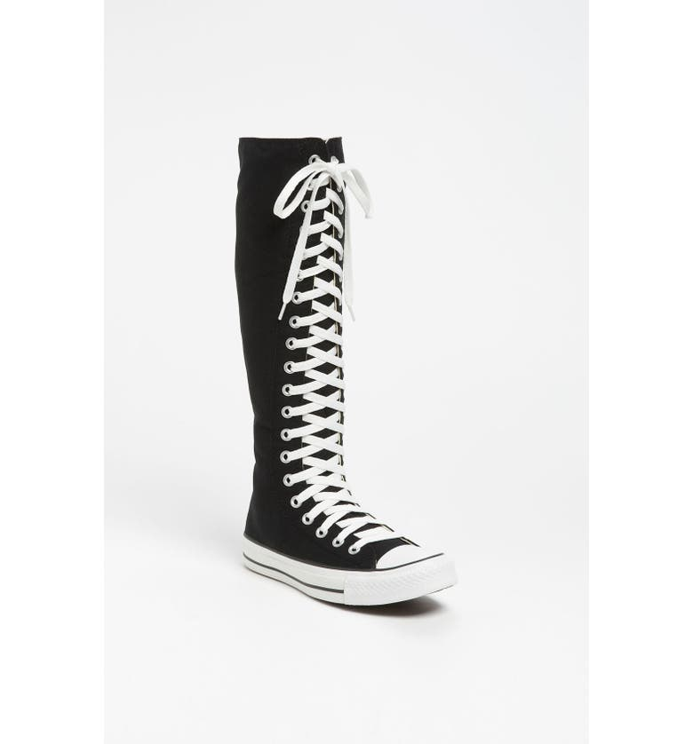 CONVERSE Chuck Taylor<sup>®</sup> 'XX Hi' Knee High Sneaker, Main, color, 001