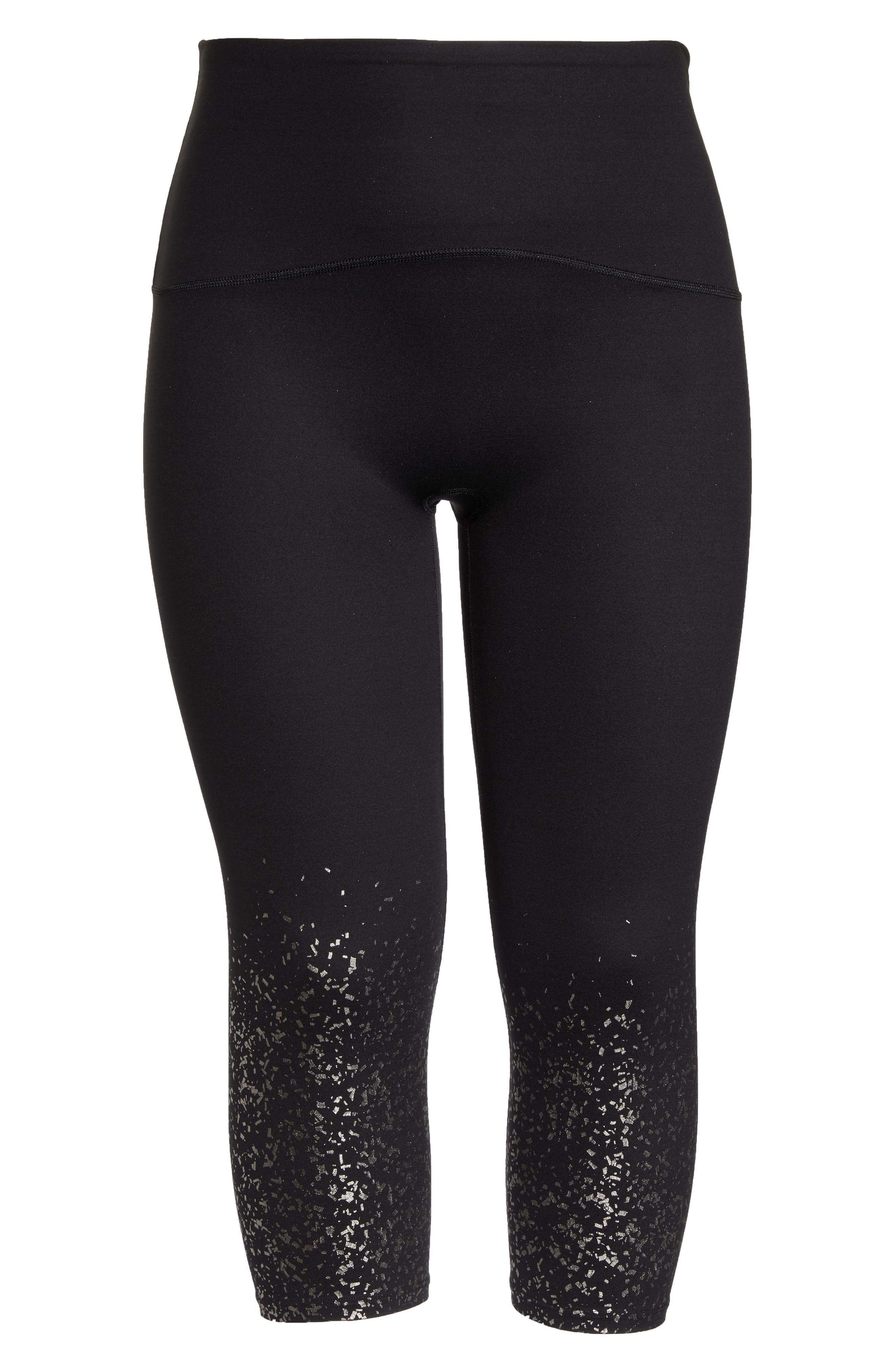 ,                             Active Print Crop Leggings,                             Alternate thumbnail 7, color,                             METALLIC CONFETTI
