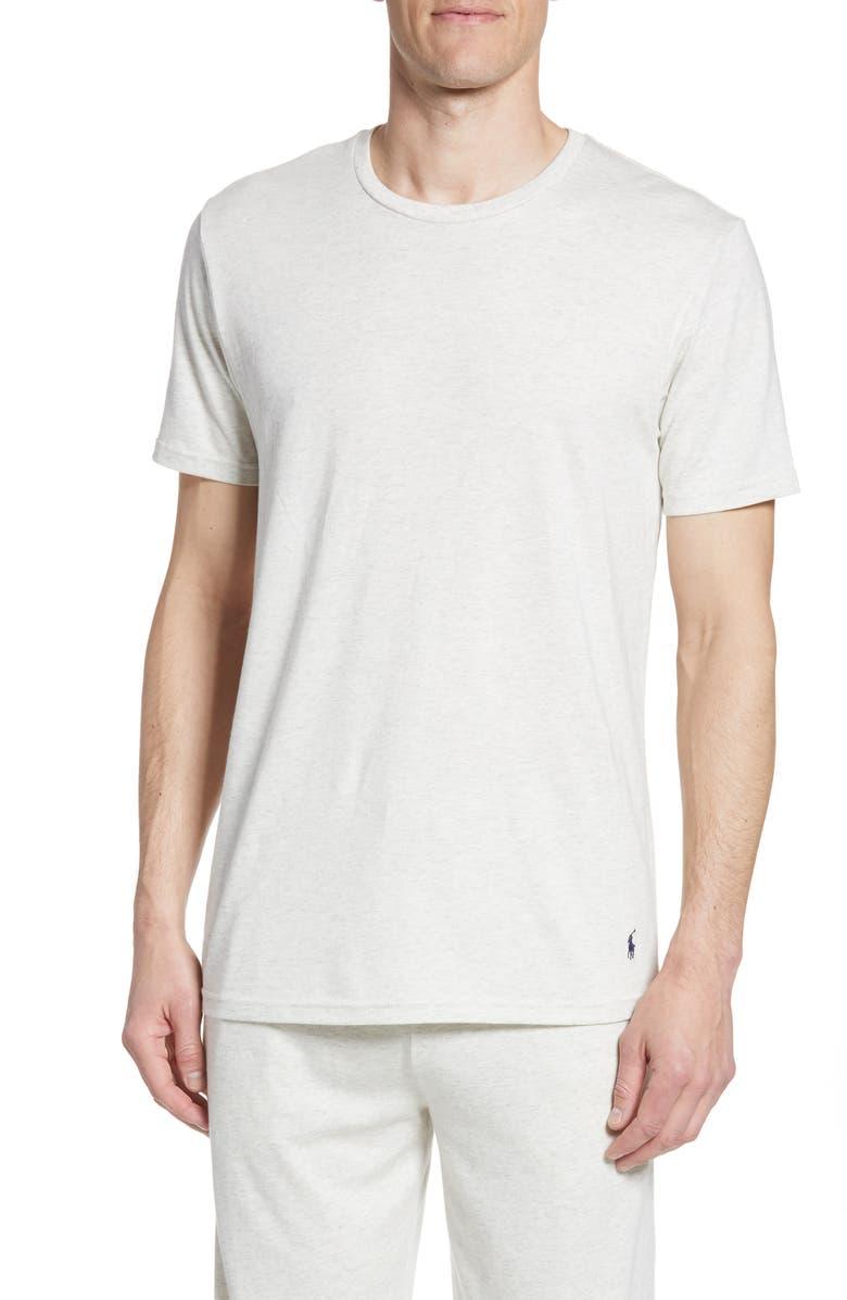 POLO RALPH LAUREN Supreme Comfort Crewneck T-Shirt, Main, color, NEW SAND HEATHER