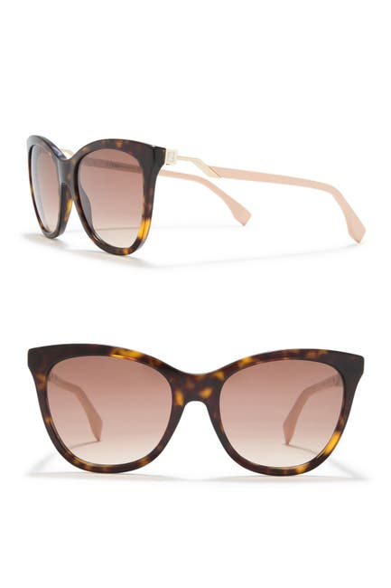 Image of FENDI 55mm Cat Eye Sunglasses