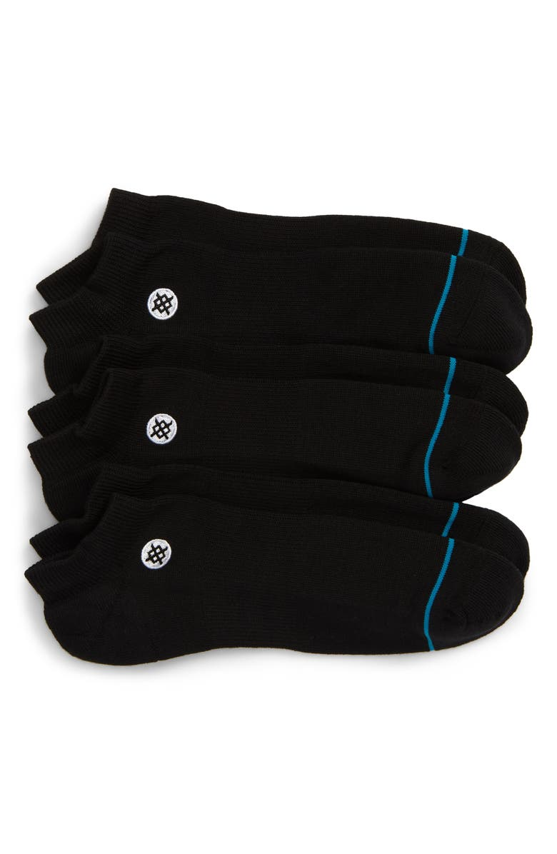 STANCE Icon 3-Pack Low Socks, Main, color, BLACK
