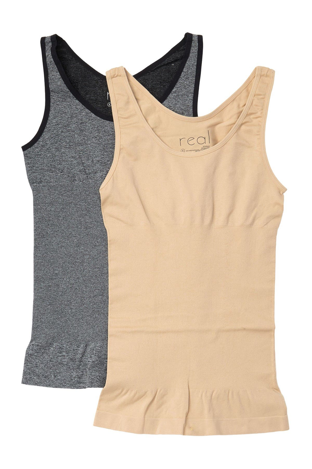 Image of REAL UNDERWEAR Lucy Shaping Tank Top - Pack of 2