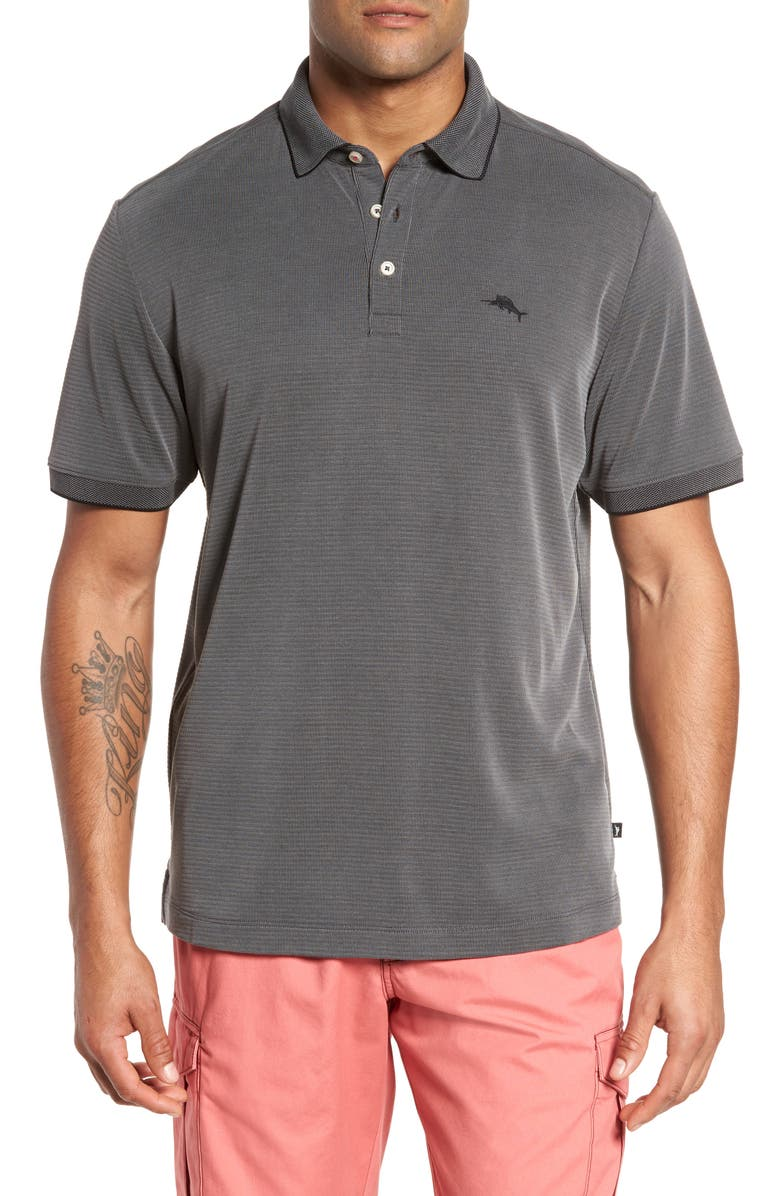 TOMMY BAHAMA Coastal Crest Classic Fit Polo, Main, color, BLACK