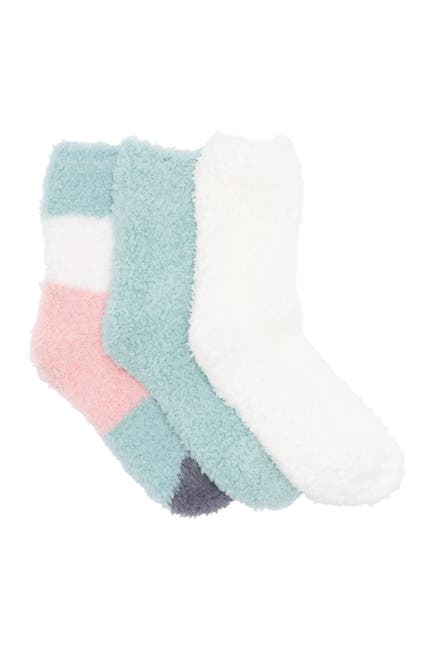 Image of Felina Plush Lounge Crew Socks - Pack of 3