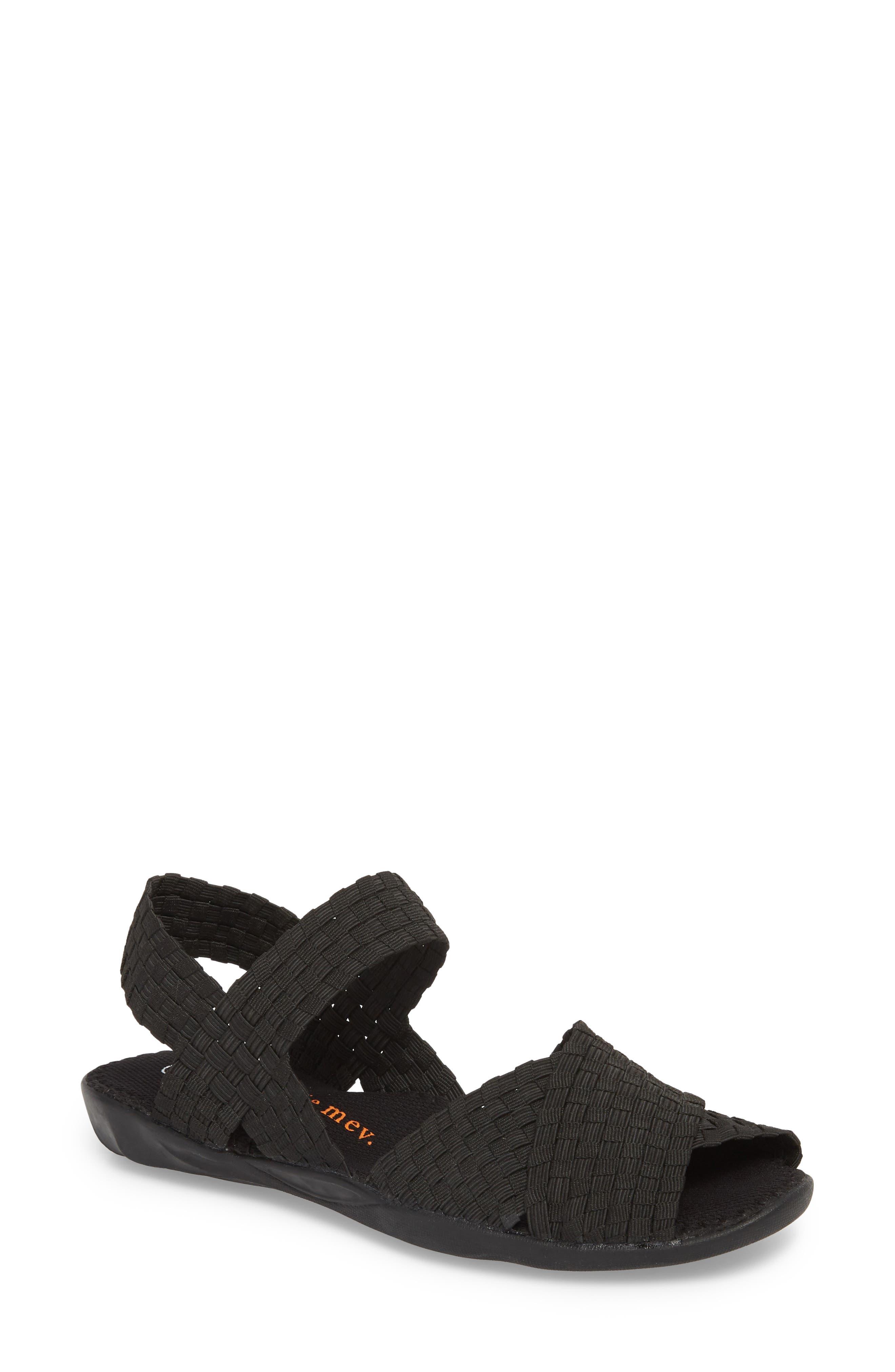 ,                             Balmy Sandal,                             Main thumbnail 1, color,                             BLACK FABRIC
