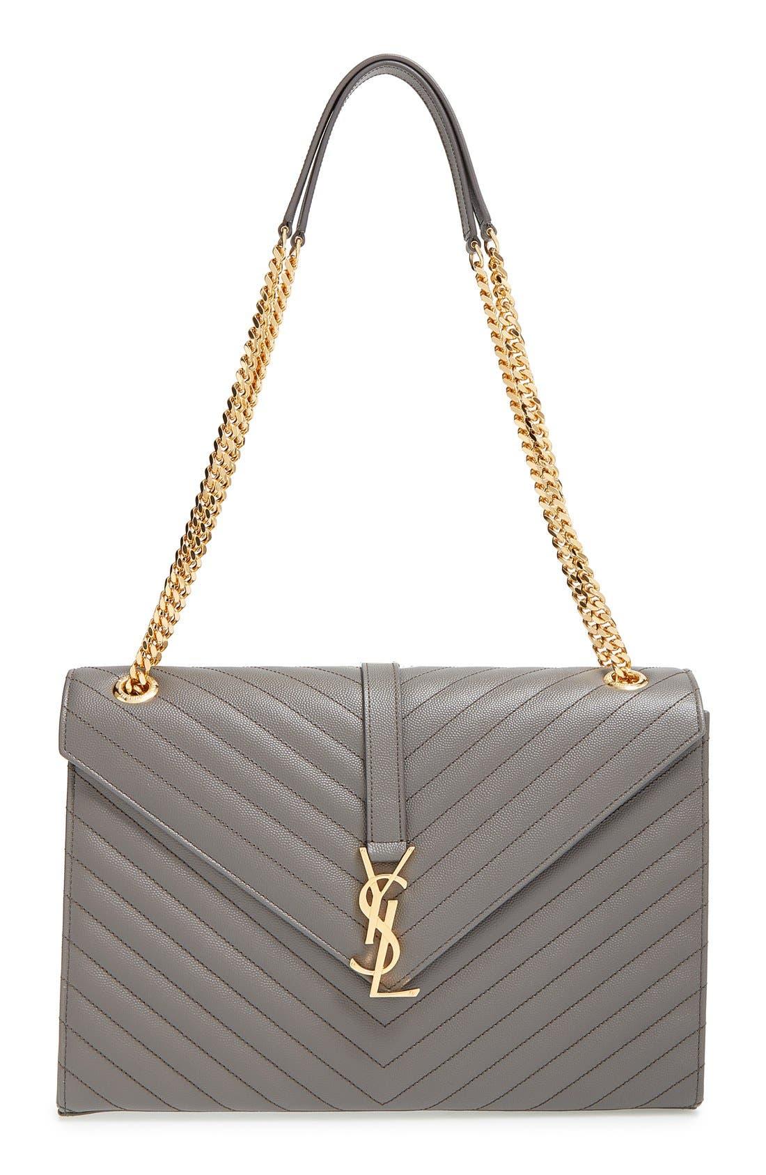 ,                             'Large Monogram' Grained Leather Shoulder Bag,                             Main thumbnail 13, color,                             020
