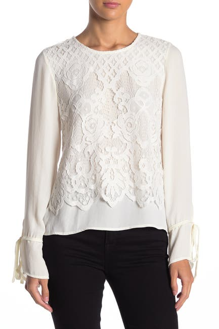 Image of ONE ONE SIX Majestique Lace Overlay Blouse