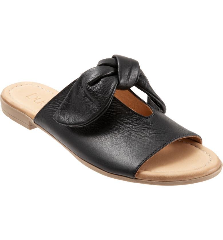 BUENO Joley Slide Sandal, Main, color, BLACK LEATHER