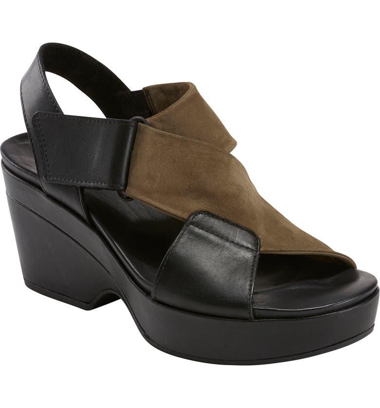 EARTH<SUP>®</SUP> Kendi Platform Sandal, Main, color, BLACK LEATHER