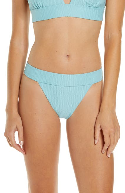 Image of Chelsea28 Banded Textured Bikini Bottoms