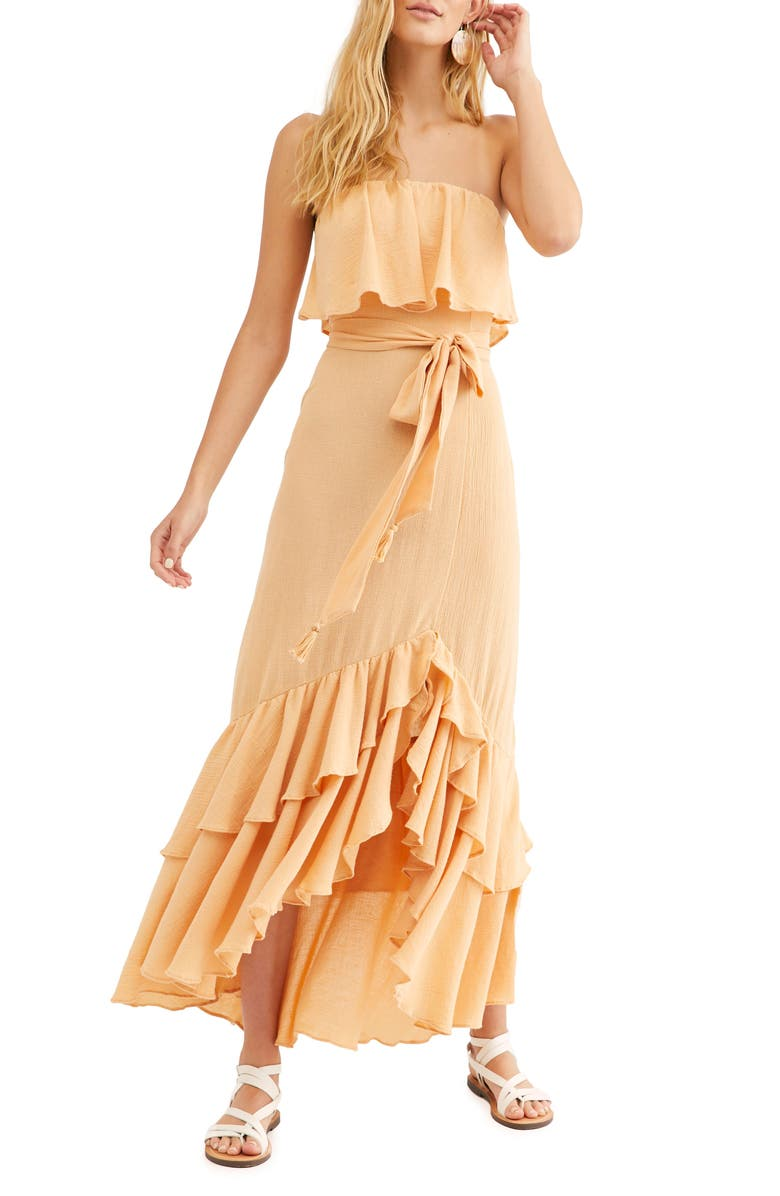 FREE PEOPLE Endless Summer by Free People Tavia Strapless Maxi Dress, Main, color, NEUTRAL