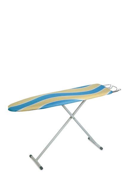 Image of Honey-Can-Do Blue/Yellow Stripes Deluxe Ironing Board