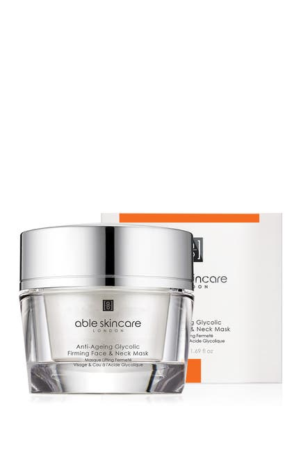 Image of Able Skincare Anti-Ageing Glycolic Firming Face & Neck Mask