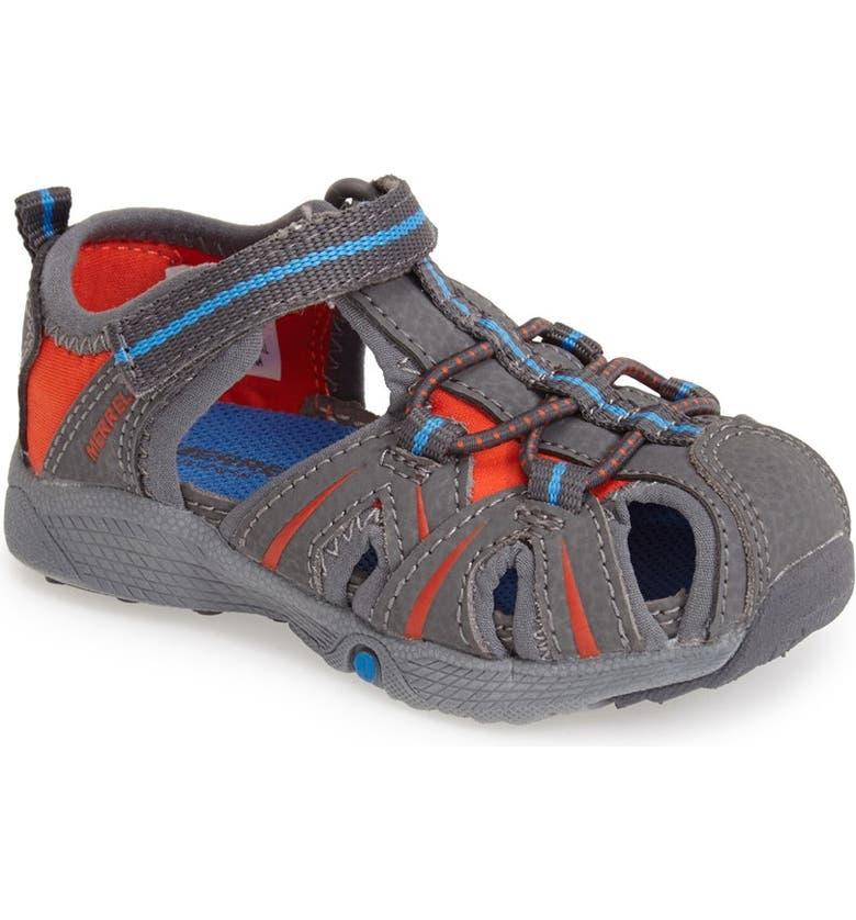 MERRELL 'Hydro Junior' M-Select Water Sandal, Main, color, 020