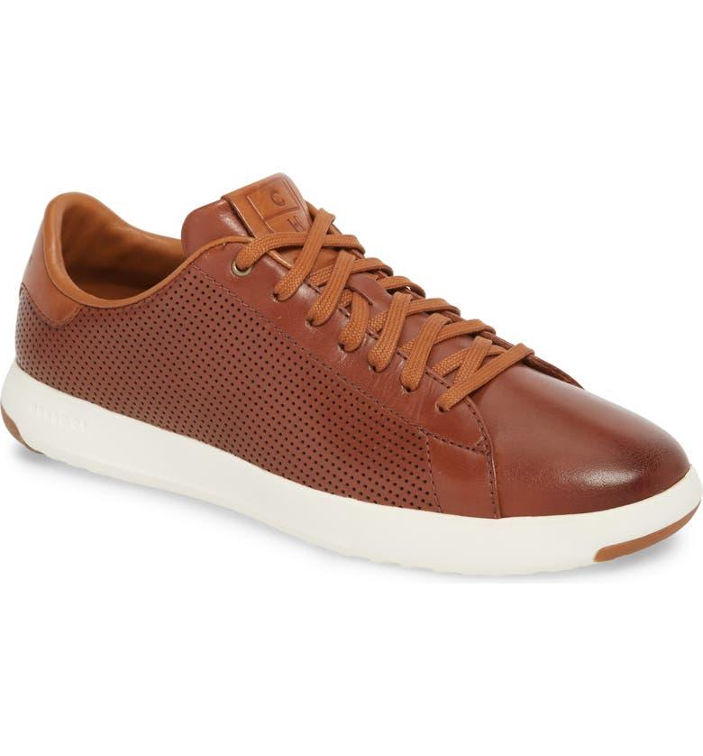 COLE HAAN GrandPrø Perforated Low Top Sneaker, Main, color, 200
