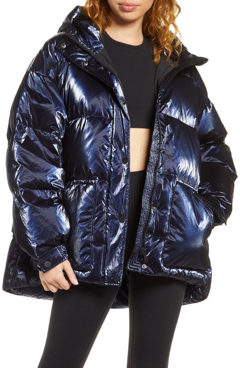 BLANC NOIR Cortina Down Puffer Jacket, Main, color, BLUE