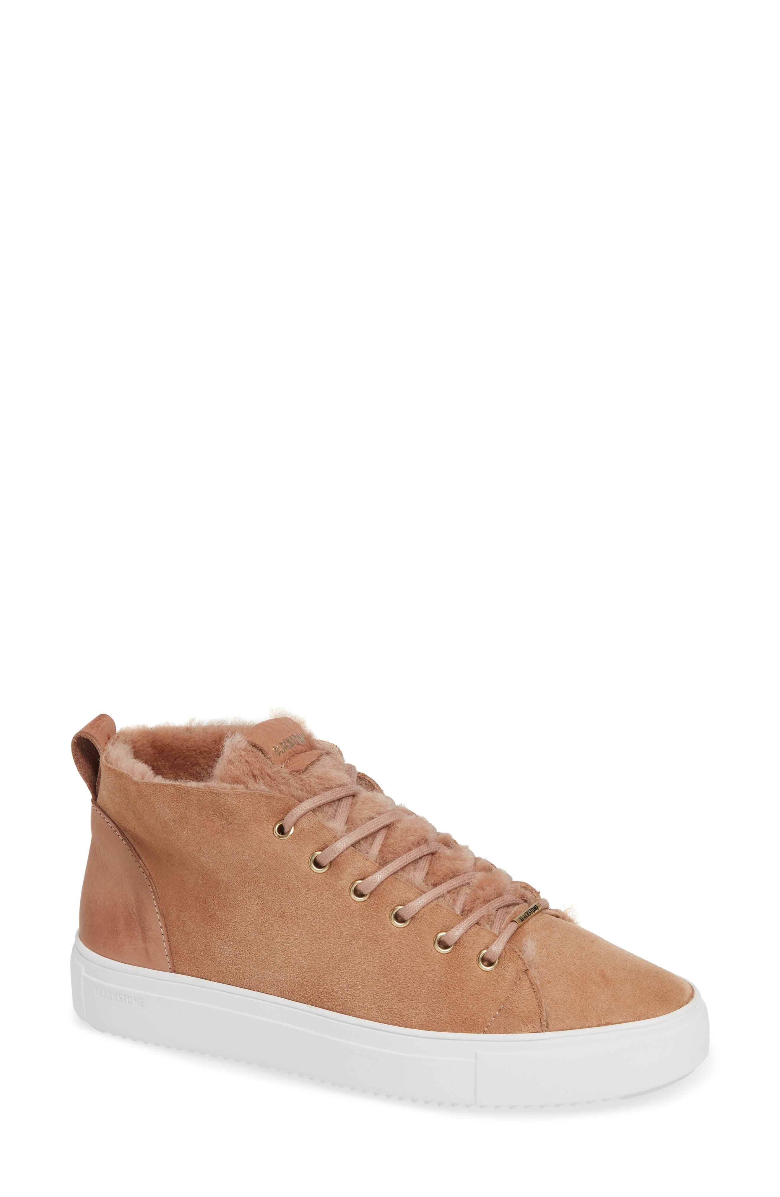 Ql48 Genuine Shearling Lined High Top Sneaker